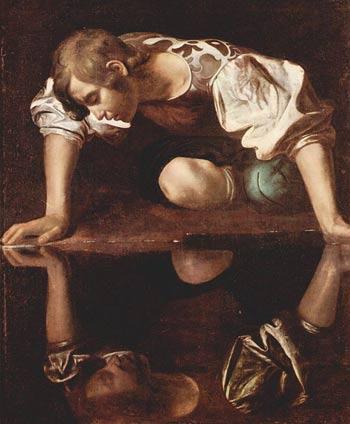 Narciso en la fuente, óleo del año 1913 que ilustra el mito.
