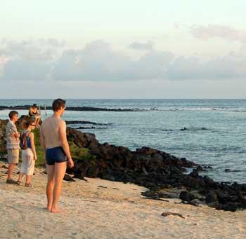El mar de Santa Cruz exhibe la pureza que debemos proteger en el planeta.