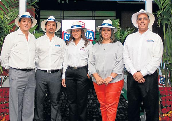 En el evento, en Guayaquil:  Joffre Barquet (i), gerente general Tropicalimentos