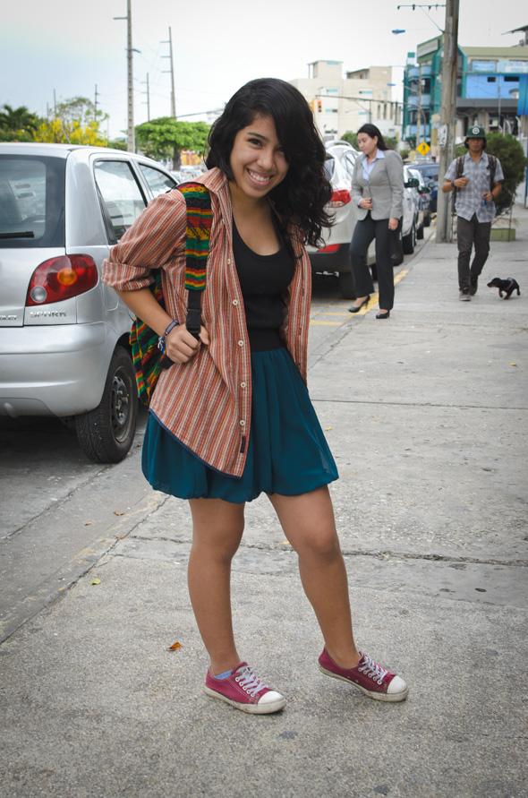 Melanie Criollo, 18 años, estudiante de fotografía