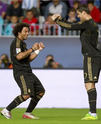 Marcelo y Cristiano Ronaldo bailando