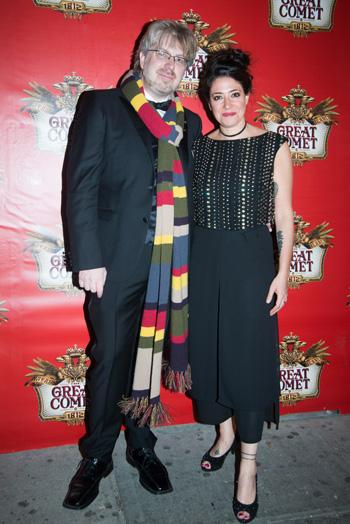 El creador y la directora: Dave Malloy and Rachel Chavkin.