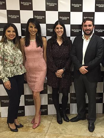 Durante el evento estuvieron ejecutivos de Bath & Home Center: Andrea Guarnizo.