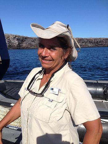 Claudia Hodari vive en la isla Isabela, Galápagos.