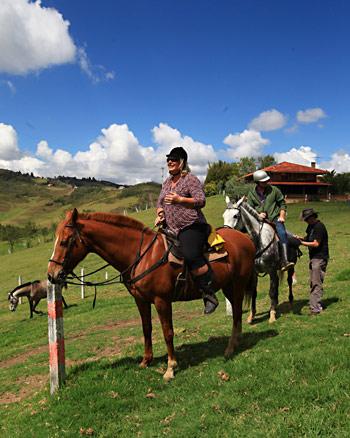 Monta Runa (Cuenca) lleva al turista a sitios como la hacienda Santa Marta.