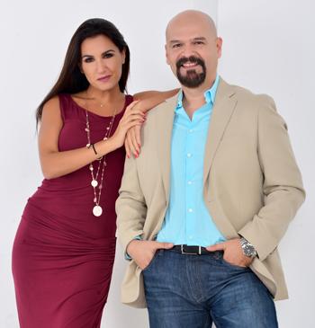 El equipo: Catrina Tala (directora ejecutiva) y Marcos Espín (director).