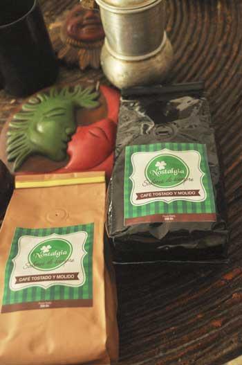 Presentación de Nostalgia, auténtico café manabita.