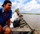 Paolo Ampuero durante un tour en Iquitos (Perú).