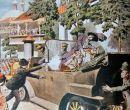 Ilustración que muestra cómo asesinaron a Francisco Fernando.
