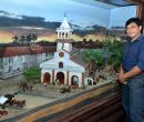 El diorama, obra de Gustavo Vinueza, muestra la antigua iglesia de San Agustín.