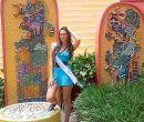 Valeria Ojeda  comenta que en Xetulul hay una hermosa decoración que evoca diseñ