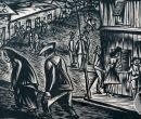 Los dibujos de Galo Galecio incluían la crítica social.