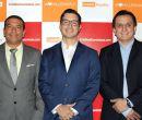 Hugo Falcones, gerente de Marketing; Juan Carlos Salame, gerente de Desarrollo d