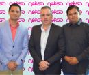 En la imagen: Jorge Mosquera, asesor de Negocios; Andrés Serra.