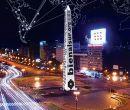 El obelisco de Buenos Aires sirvió para anunciar el evento internacional.