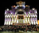 La Orquesta Sinfónica del Municipio de Loja interpretó la cantata Todos.