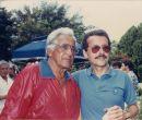 Pancho Segura y Agustín Febres-Cordero en el Torneo de Celebridades de 1987.