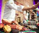 Stand de Ecuador durante Chocolate Unwrapped en Vinopolis, Londres.