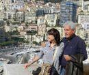 La pianista Ana María Vargas y su esposo, Juan Carlos Uribe, en uno de los balco