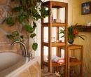 Organizador de baño  hecho con madera de Teca (Mubao).