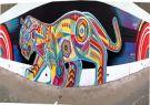 Mural de Guache. Artista colombiano invitado a la última edición de Latidoameric