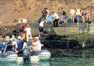 El muelle de la isla Baltra en Galápagos yace bajo el agua.