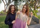 Carolina Aguirre modificó algunos vestidos de su mamá para el Miss Universo.