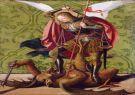 San Miguel mata al dragón, Josse Lieferinxe (1493-1508).