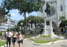 La plaza Bolívar, también conocida como parque Seminario.