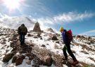 Fría caminata entre el primer y segundo refugio del volcán Chimborazo.