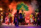 El parque Xcaret  brinda diversos shows culturales, como este en honor a la cult