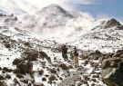 La caminata desde el primer al segundo refugio del volcán Chimborazo.