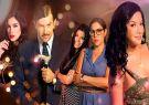 Parte del elenco de Sharon, la Hechicera: Santiago Carpio, Priscilla Negrón.