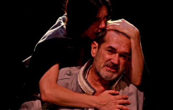 Edgardo Moreira (San Martín) y Ana Yovino, como Manuela Sáenz.