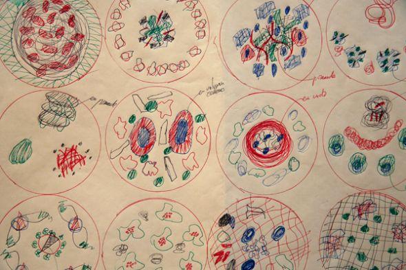Dibujos y trazos de los platos que armaría en el restaurante El Bulli.