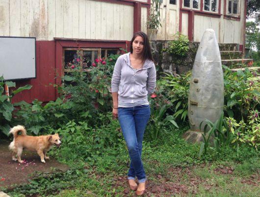 """Nicole Ramírez, bisnieta del """"Rey de las Patatas"""" de Galápagos."""