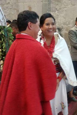 Unas 1.500 personas asistieron a la ceremonia religiosa en Pujilí.