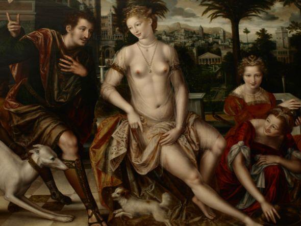 David y Betsabé (1562). Pintura del artista belga Jan Massys.