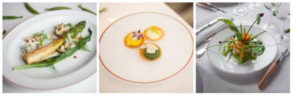 Las preparaciones de la mayoría de platos de L'Arpège incluyen mayormente verdur