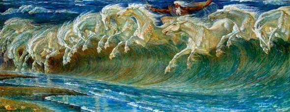 Los corceles de Neptuno, 1892. Walter Crane (1845–1915).