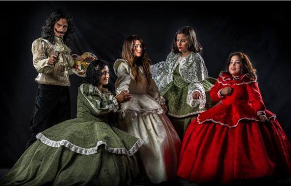 El elenco lo integran Juan José Jaramillo (d), Alejandra Suárez, Kira Sánchez, Á