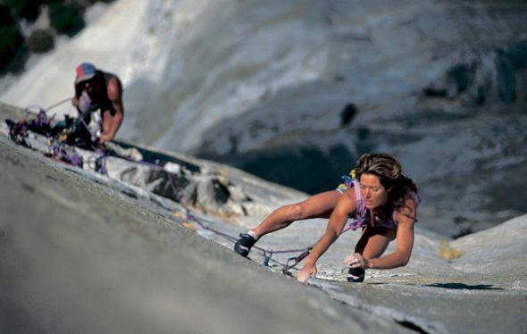 Lynn Hill es una de las escaladoras más famosas del Yosemite.