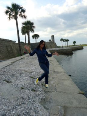 María José Flores visitó San Agustín, en Florida.