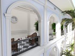 Boceto del nuevo hotel, donde se rescatan los jardines interiores.