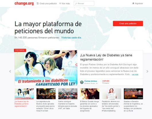 Imagen tomada del portal change.org.