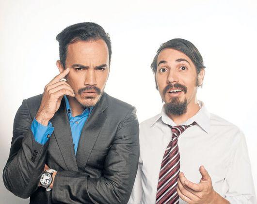 Los protagonistas Ricardo Velástegui (i) y Víctor Aráuz.
