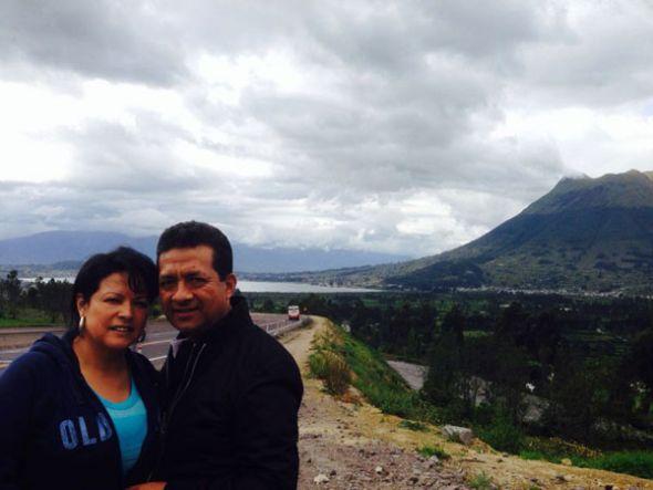 Máximo Escaleras y su esposa, Piedacita Lasso.