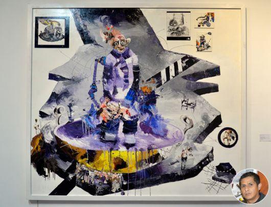 Obra de Emilio Seraquive La gota que derramó el vaso II.