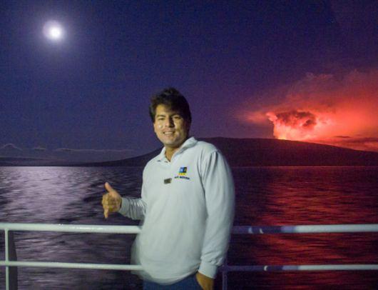 Álex Medina, tripulante del barco Nat Geo Endeavour II.