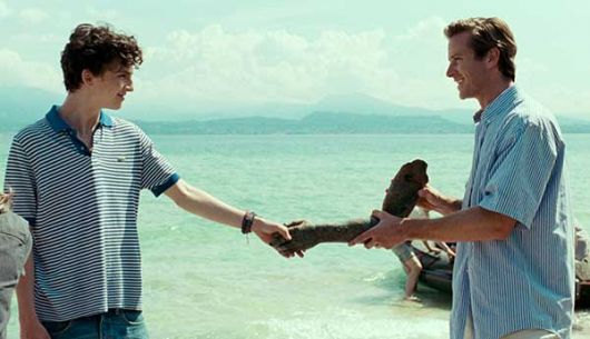Timothée Chalamet y Armie Hammer en Call Me By Your Name.